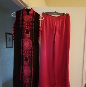 Silk pantsuit